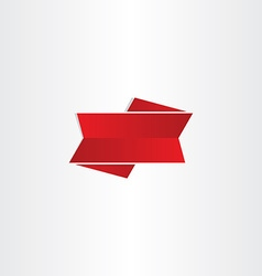 Red ribbon design element vector