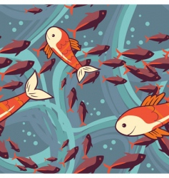 Fish pattern vector
