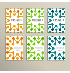 Set of six covers with abstract patterns vector