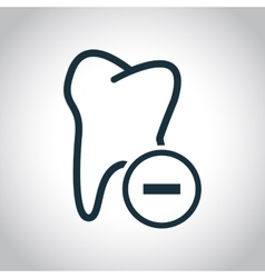 Tooth extraction icon vector