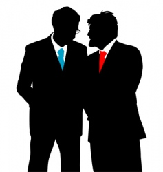 Businessmen talking vector