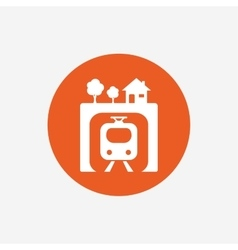 Underground sign icon metro train symbol vector