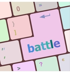 Battle button on computer keyboard pc key vector