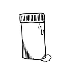 Paint tube icon instrument design graphic vector