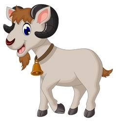 Cartoon goat smiling vector