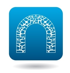 Stone arch icon simple style vector