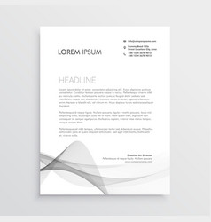 abstract professional letterhead design template vector image vector image