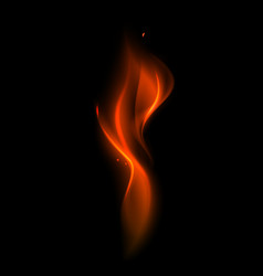 abstract red fire flame vector image