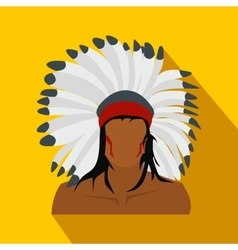 American indian flat icon vector