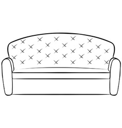 Big sofa vector image