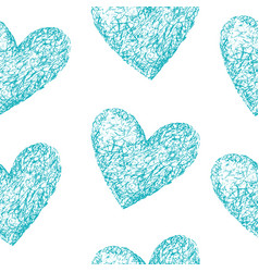blue hearts seamless pattern vector image vector image