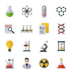 Chemistry icon flat vector