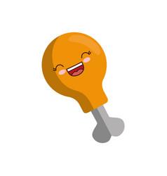 chicken leg icon vector image vector image