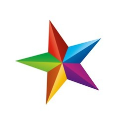 color star vector image vector image