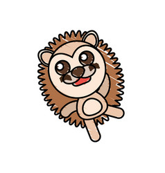 drawing porcupine animal character vector image