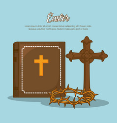 Easter celebration design vector