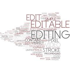 Editable word cloud concept vector
