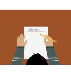 Education paper sheet design flat vector