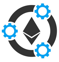 Ethereum pool collaboration flat icon vector