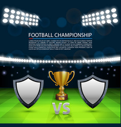 Football championship cover sport cup background vector