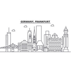 germany frankfurt architecture line skyline vector image vector image