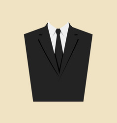 graphic of a man suit vector image