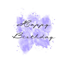 hand painted watercolor greeting card vector image vector image