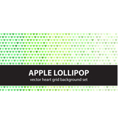 Heart pattern set apple lollipop seamless vector