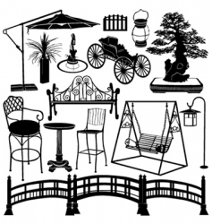 Home garden objects vector