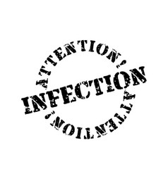 Infection typographic stamp vector