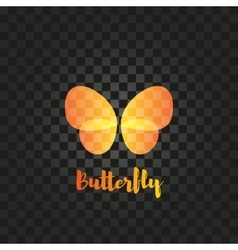 Isolated orange butterfly logo Insects vector image