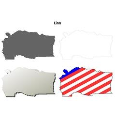 Linn map icon set vector