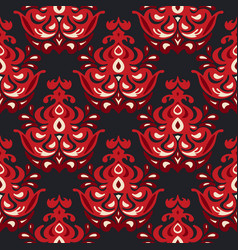 Luxury damask flower seamless pattern vector