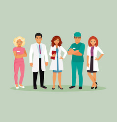 medical staff vector image