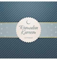 Ramadan kareem eid mubarak emblem vector