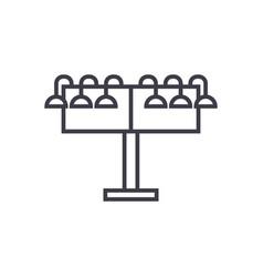 rotating billborad linear icon sign symbol vector image