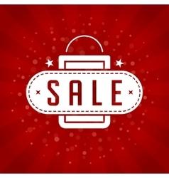 Sale banner or label design for promotional vector