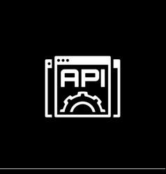 settings api icon flat design vector image