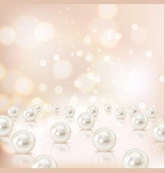 shell pearls background composition vector image