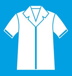 Shirt polo icon white vector