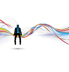 Silhouette of businessman vector