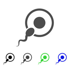 sperm insemination icon vector image
