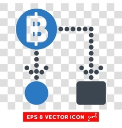 Thai baht cashflow eps icon vector