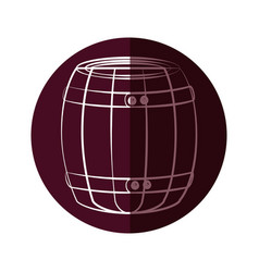 Wine wooden barrel vector