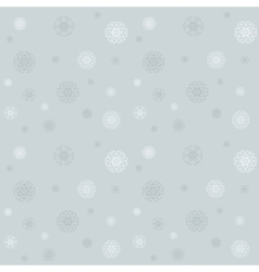 Celebratory pattern with snowflakes on the grey vector