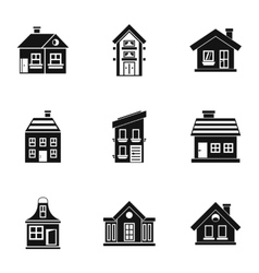Habitation icons set simple style vector