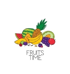 fruits time logo vector image