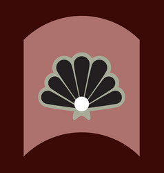 flat icon design collection marine shell vector image