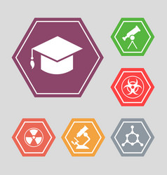 White science icons - molecule hat vector