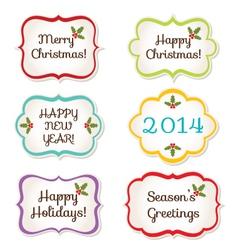 Christmas frames set vector image